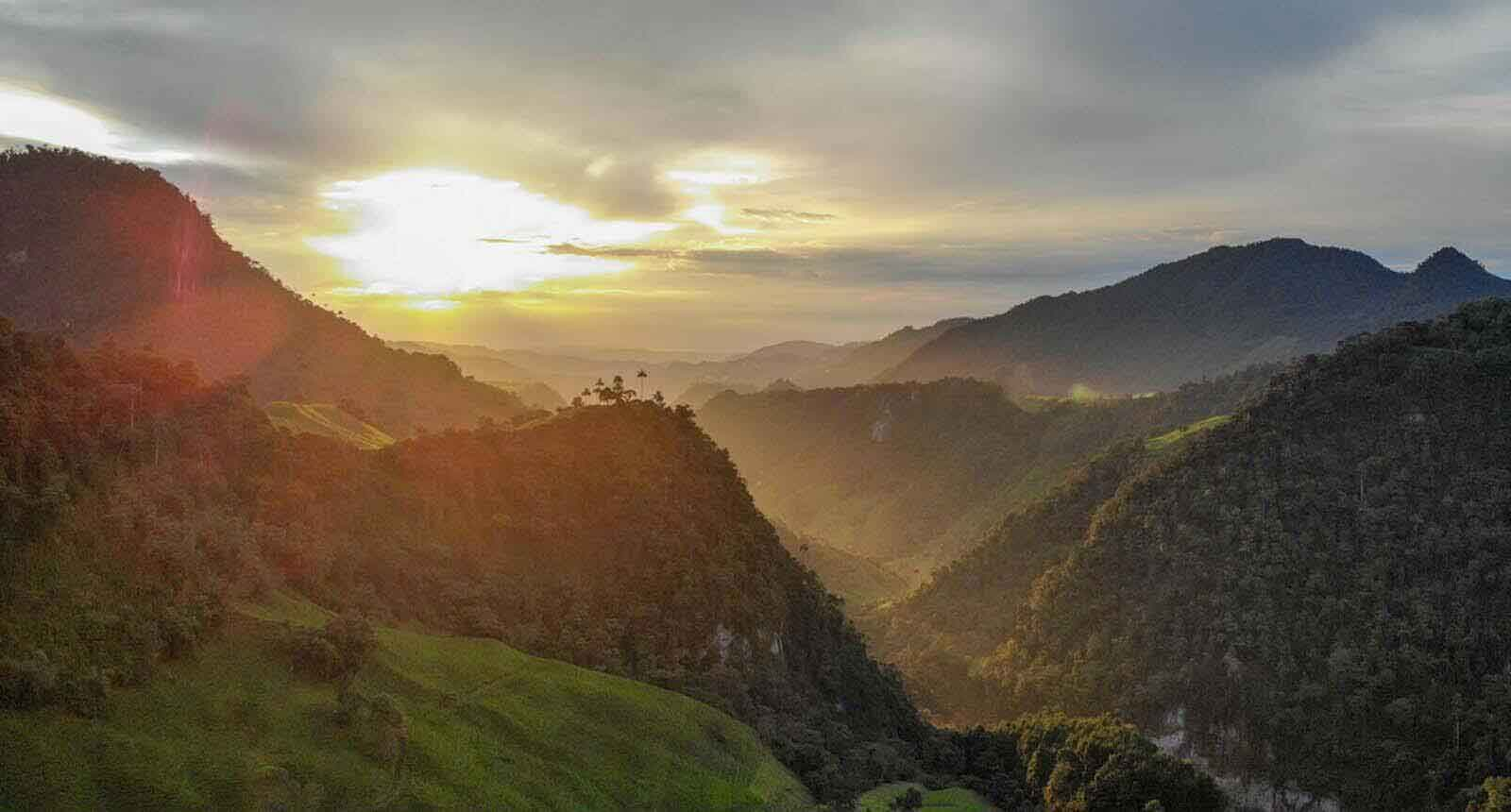 Sunset mountains Colombia