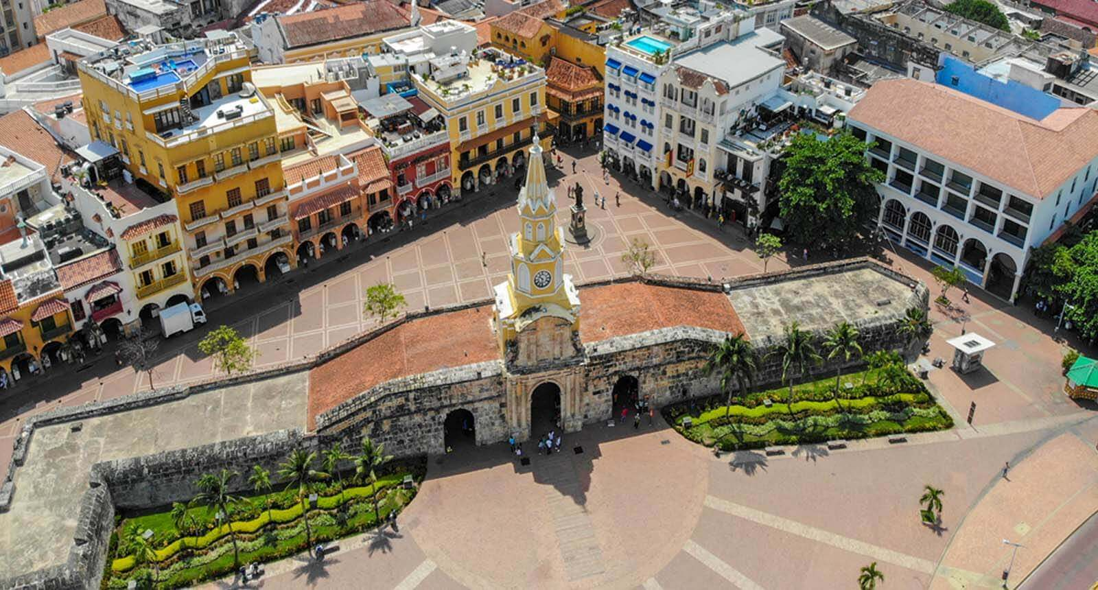Drone picture Clock Tower Cartagena