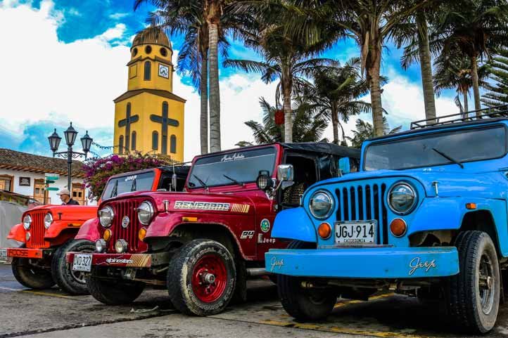 Willi's jeeps coffee region Colombia