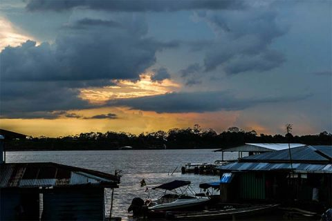 Amazon river view from Leticia