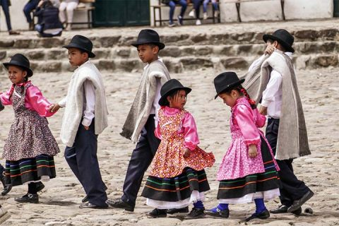 Children traditional dressing Boyaca