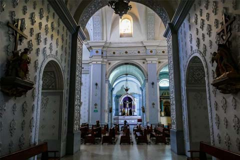 Inside Cathedral Basilica of Our Lady of the Assumption Popayan