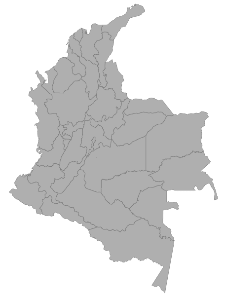 Colombia map no titles