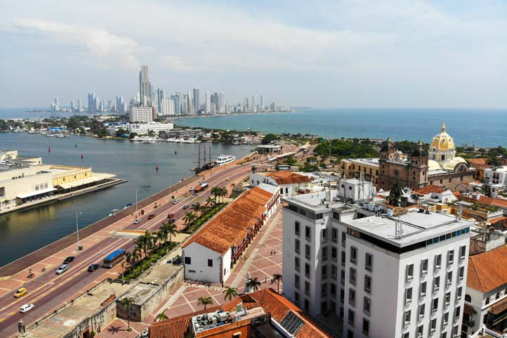 Cartagena view Bocagrande
