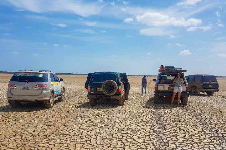 Arrival at Punta Gallinas in 4x4. La Guajira Colombia
