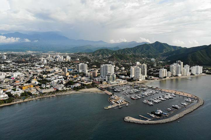 Drone photo of Santa Marta Colombia