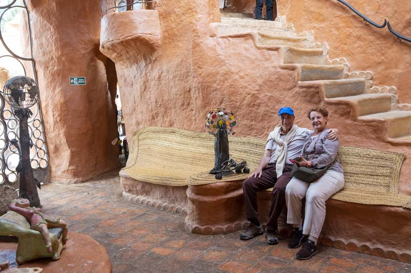 Couple at Terracota House in Villa de Leyva Colombia