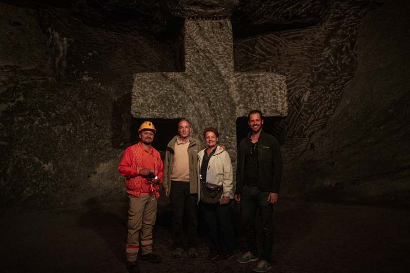 Family at Salt Cathedral in Zipaquira