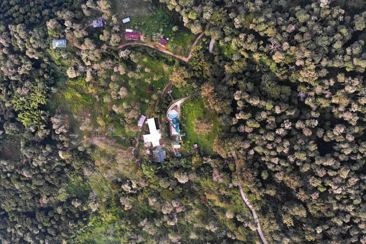 Drone photo of Finca Vista Nieves near Santa Marta