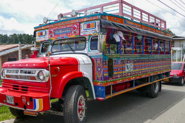Party bus in Colombia
