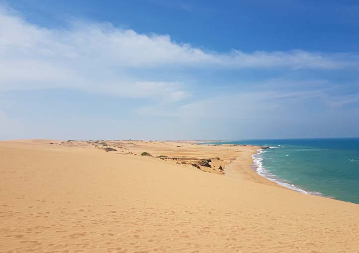 Punta Gallinas Beach in La Guajira Colombia