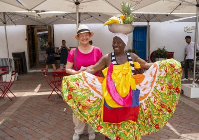 Woman with native woman in Cartagena