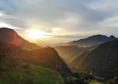 Sunset in the mountains of Colombia