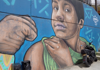 Graffiti at the Comuna 13 in Medellin
