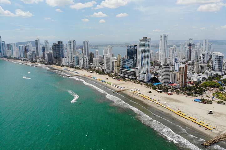 Drone photo of Bocagrande Cartagena