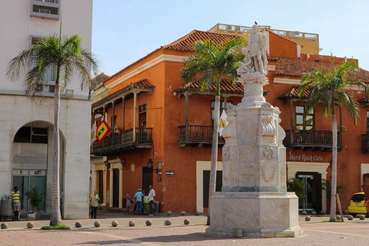 Christopher Colombus Statue in Cartagena