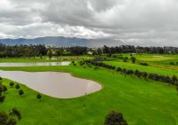 Drone photo golf course Colombia