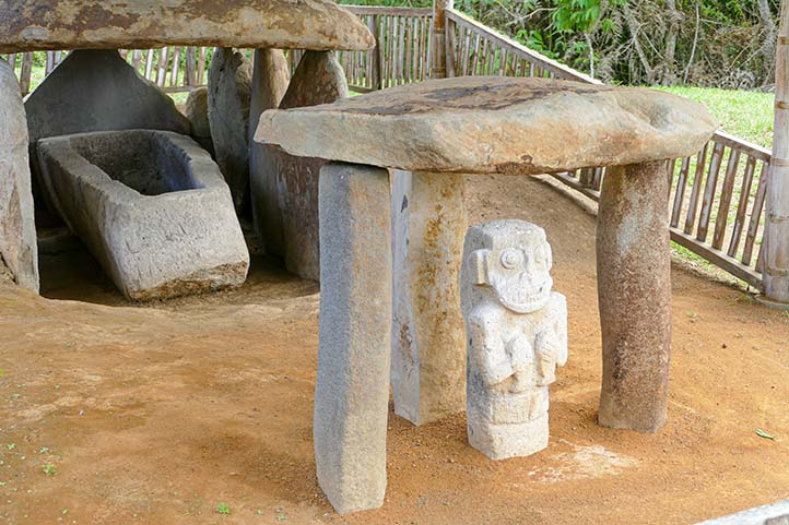 Archaeological park in San Agustin Huila