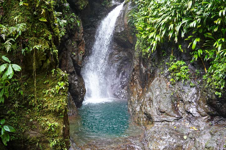 Waterfall at Bahía Solano Choco