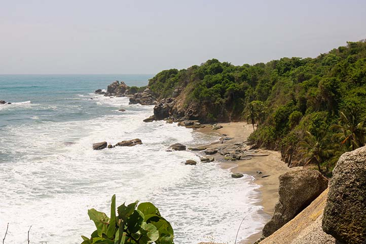 High wave beach in Tayrona Park