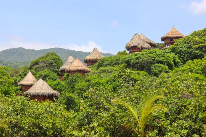 Ecohabs accommodation in Tayrona Park