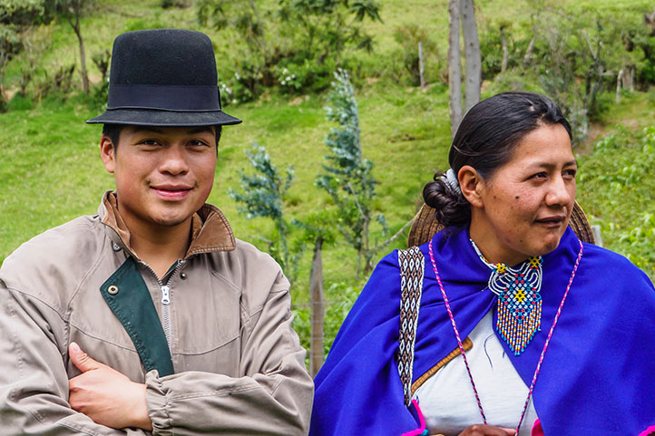 Guambinos couple of southern Colombia